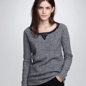 J.Crew Lambswool Sequined Boy Grey Sweater XS